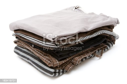 186826582 istock photo Stack of Clothes 183419701
