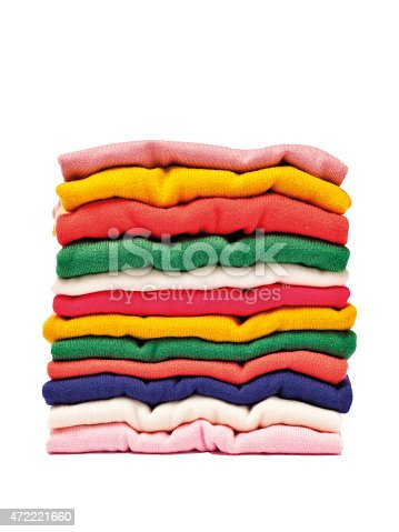 186826582 istock photo Stack of clothes 472221660