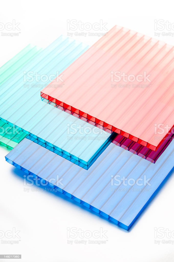 Stack Of Colored Polycarbonate Sheets Stock Photo & More Pictures of ...
