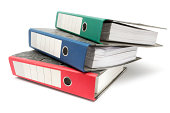 Stack of Colored Ring Binders