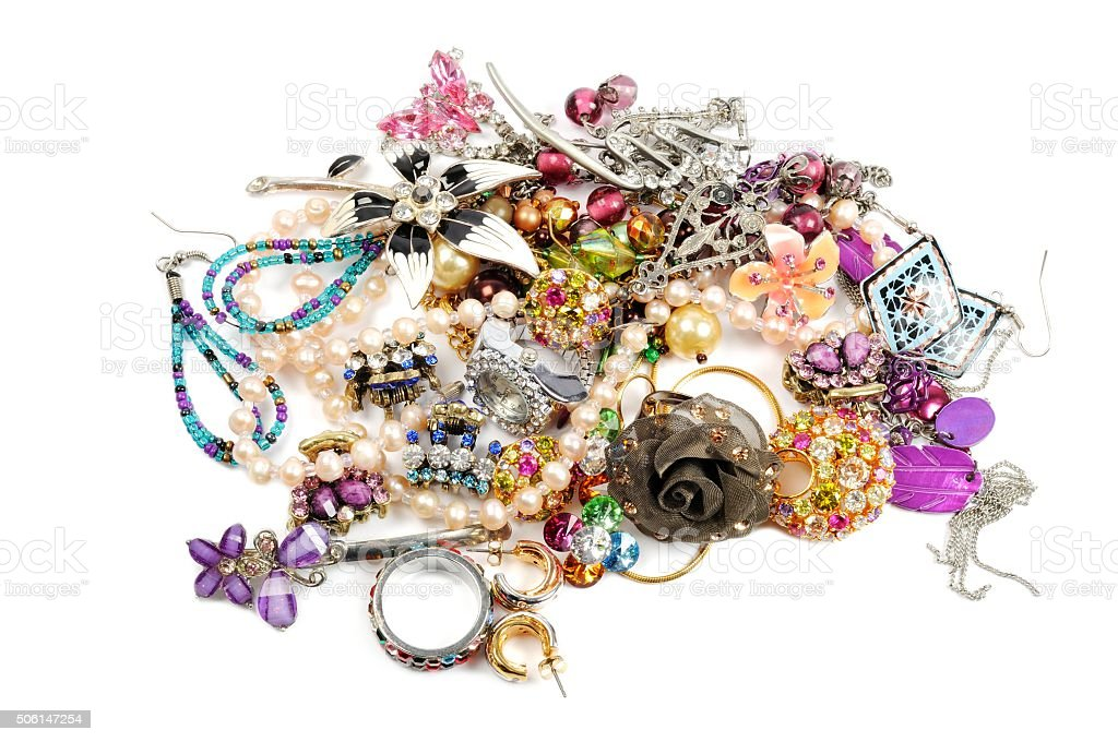 Stack of colorful accessories stock photo