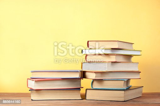 897558204 istock photo Stack of colorful books. Education background. Back to school. Copy space for text. 885644160