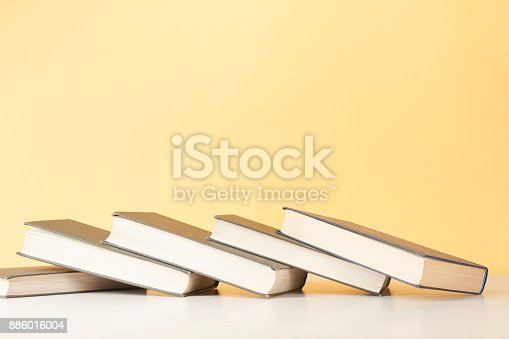 897558204 istock photo Stack of colorful books. Education background. Back to school. Copy space for text. 886016004