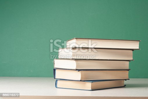 897558204 istock photo Stack of colorful books. Education background. Back to school. Copy space for text. 886016372