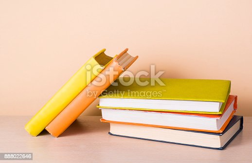 897558204 istock photo Stack of colorful books. Education background. Back to school. Copy space for text. 888022646