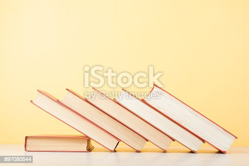 897558204 istock photo Stack of colorful books. Education background. Back to school. Copy space for text. 897080544