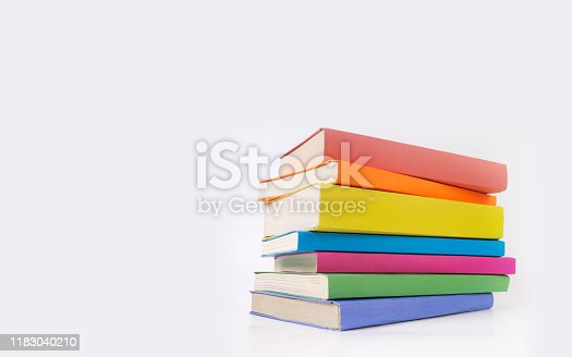 istock Stack of colorful books 1183040210