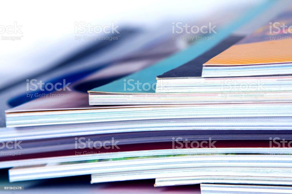 renkli Dergi yığınının extreamly DOF - Royalty-free ABD Stok görsel