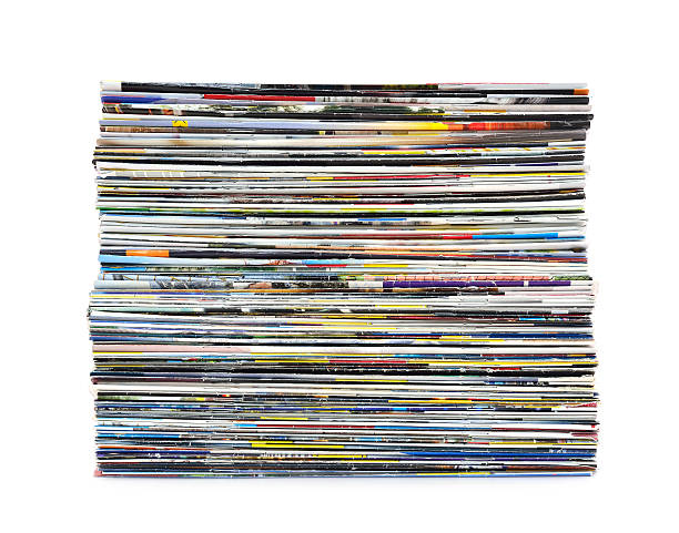 stack of colorful magazines - stack rock stock pictures, royalty-free photos & images