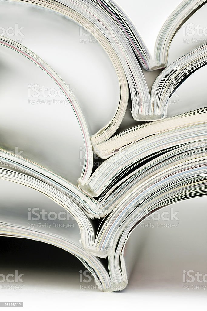 stack of colorful magazines royalty-free stock photo