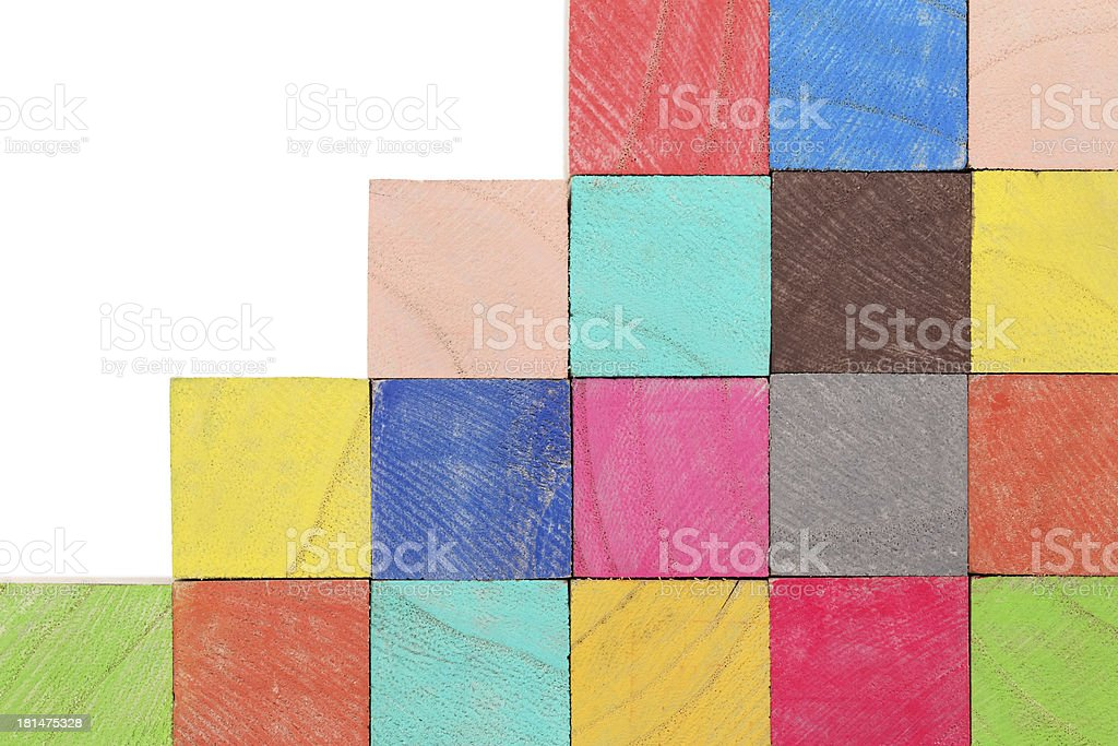 stack of colorful wooden toy blocks royalty-free stock photo