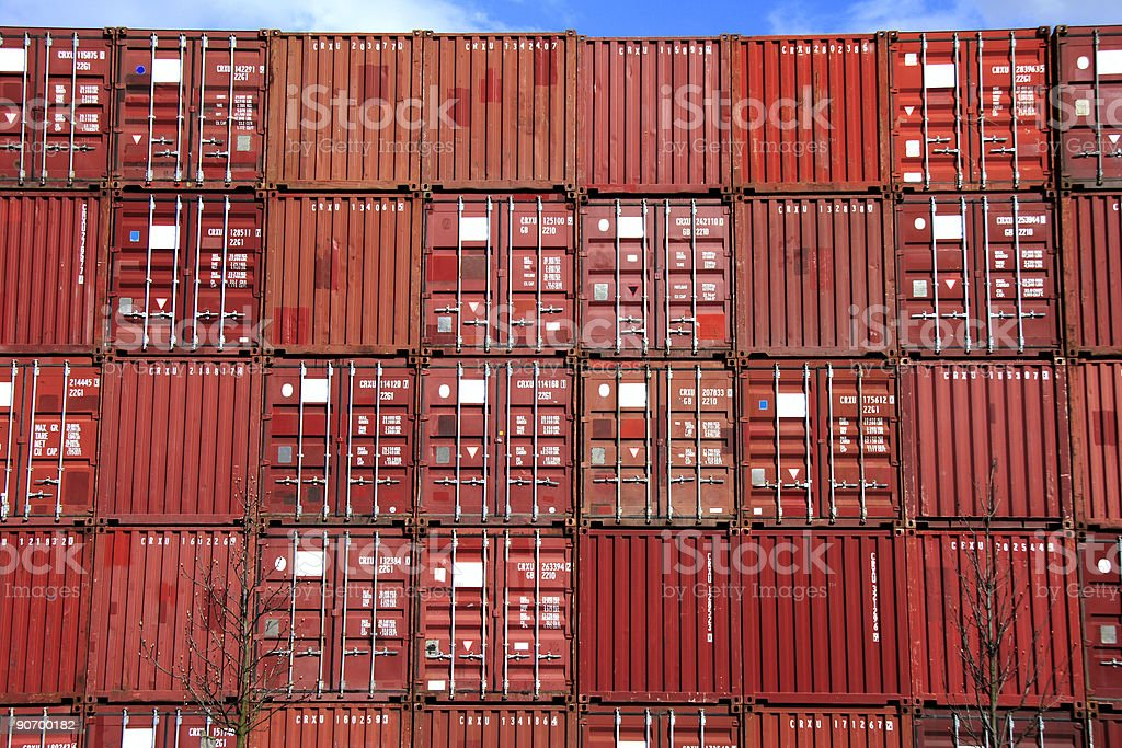 stack of container royalty-free stock photo