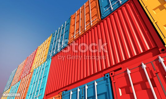istock Stack of containers box, Cargo freight ship for import export business 908603958