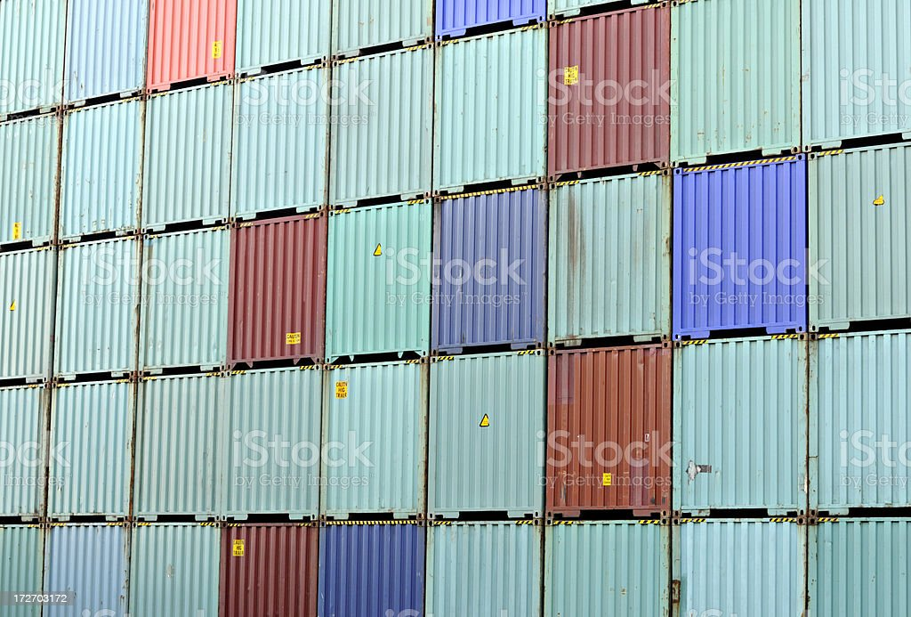 stack of containers royalty-free stock photo