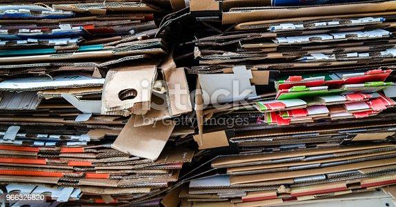 Stack of Corrugated Cardboard.