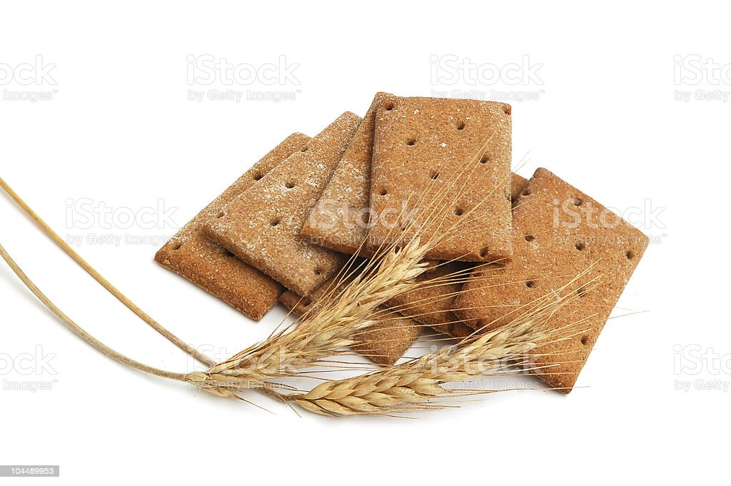 Stack of cracker royalty-free stock photo