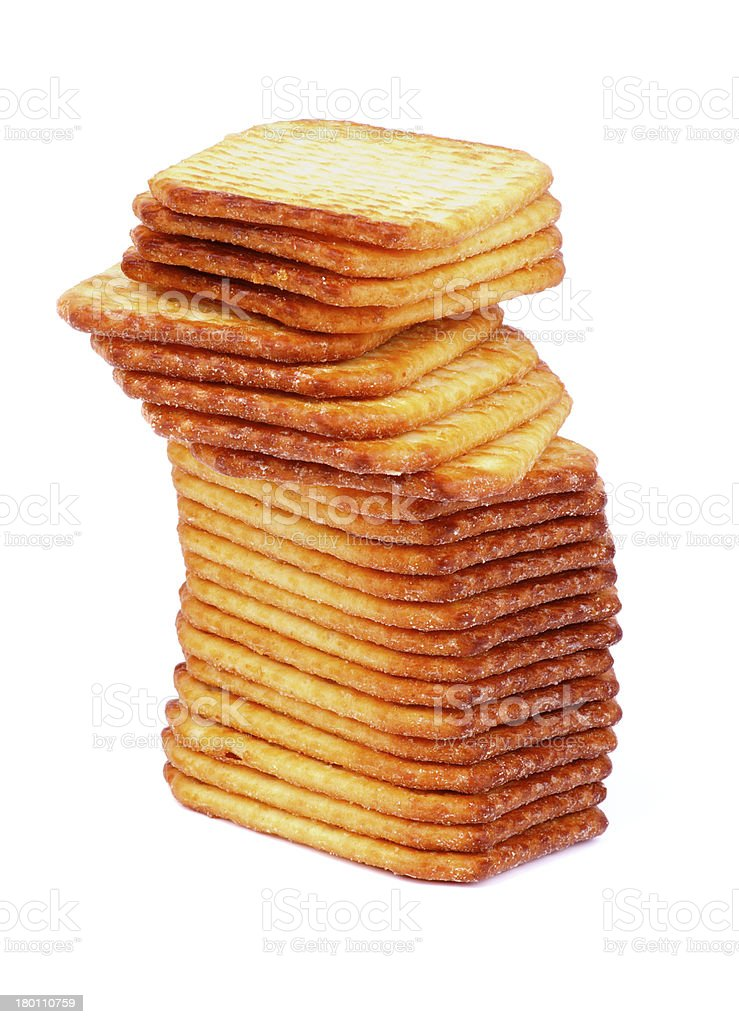 Stack of Crackers royalty-free stock photo