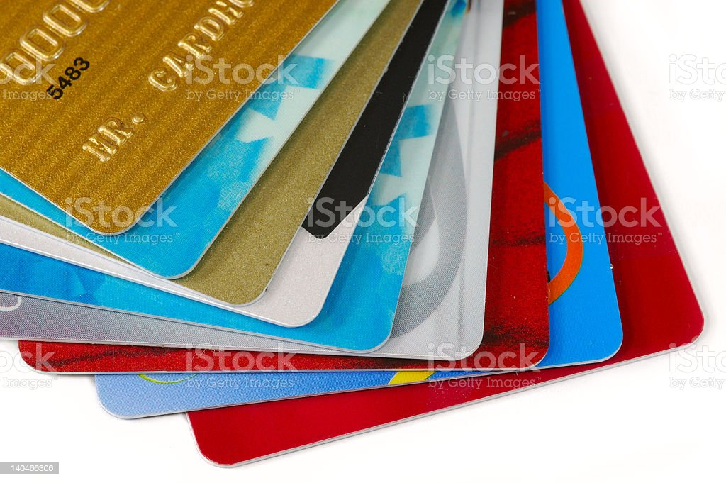 Stack of Credit Cards. royalty-free stock photo