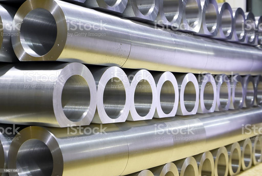 Stack of crossing pipes abstract perspective royalty-free stock photo