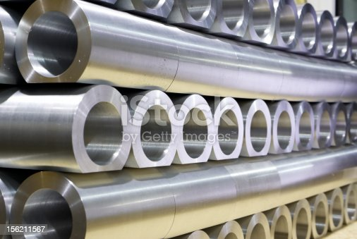 istock Stack of crossing pipes abstract perspective 156211567