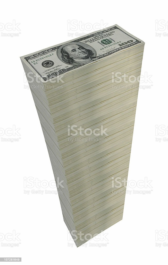 Stack of Currency royalty-free stock photo