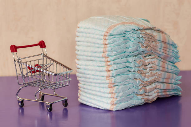Stack of diapers or nappies and mini shopping cart concept picture id843222452?b=1&k=6&m=843222452&s=612x612&w=0&h=1za teaiz67bxp7negtalb0vly 1vv6koqutsr3tr6u=