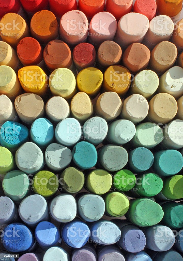 Stack of different pastel colors stock photo