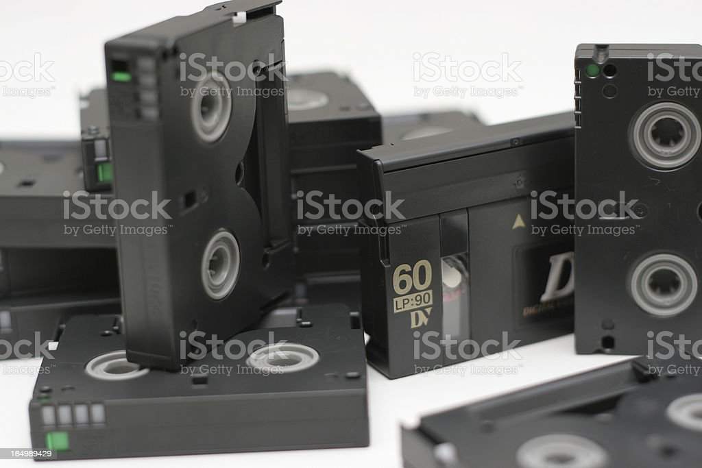 Stack of Digital Video tapes royalty-free stock photo