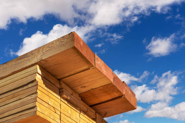 Stack of dimensional lumber for home construction stock photo