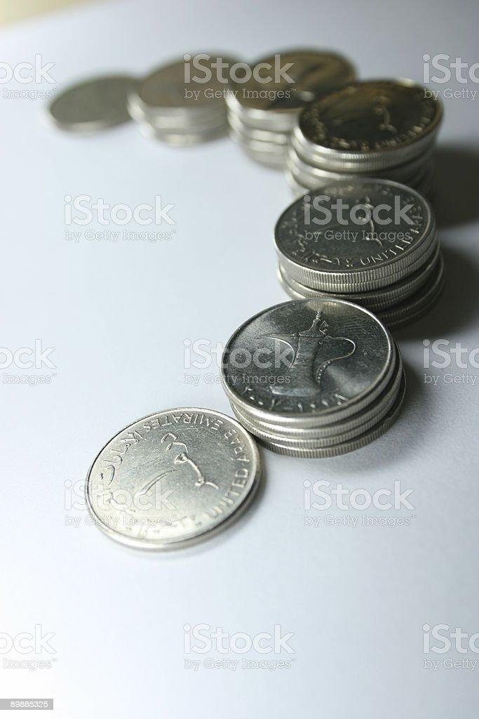 Stack of Dirhams stock photo