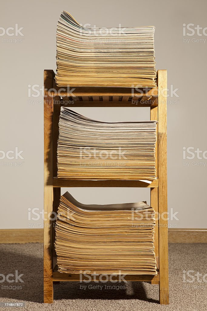 stack of documents or newspapers royalty-free stock photo