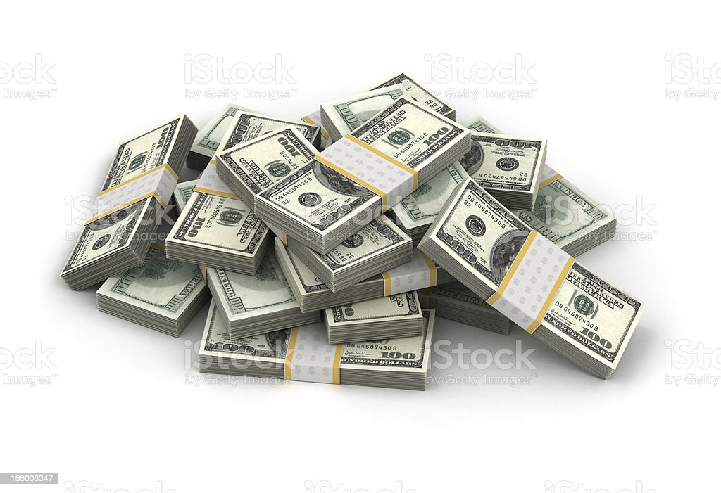 Stack of Dollar stock photo