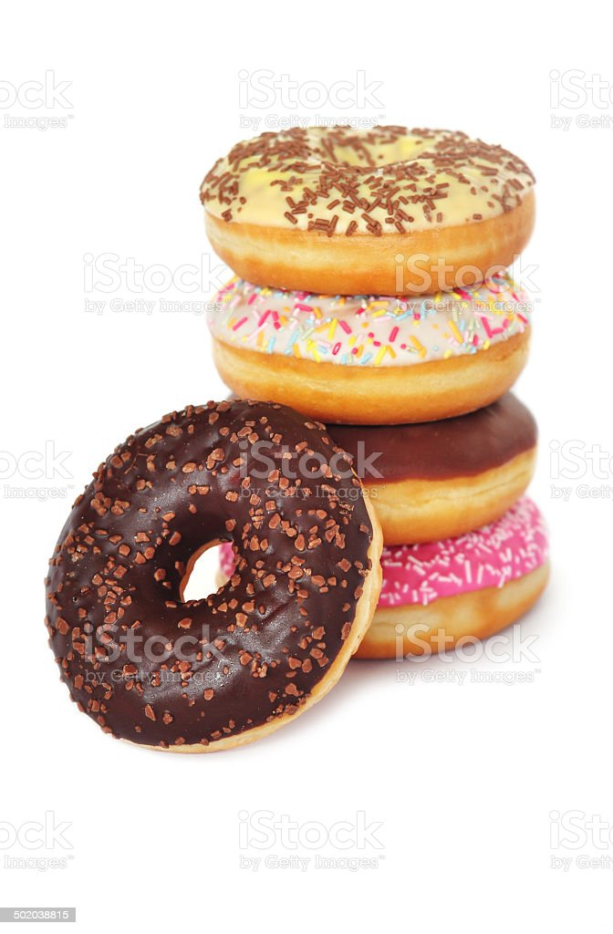 Stack of donuts stock photo