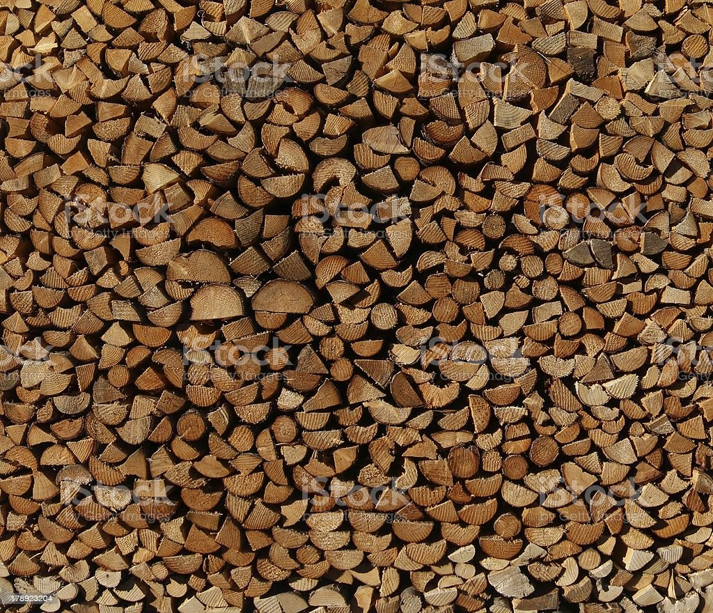 Stack of dry Firewood royalty-free stock photo