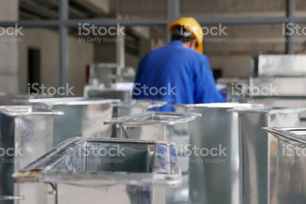 Stapel Ducts auf Baustelle – Foto