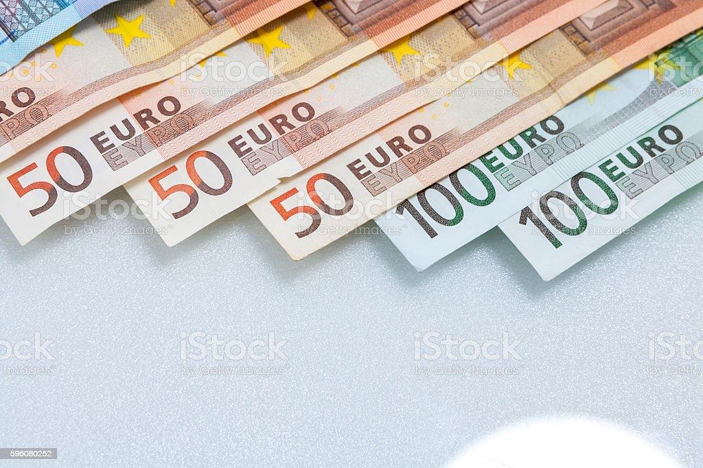 Stack of Euro banknotes . royalty-free stock photo