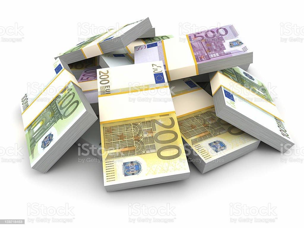 Stack of Euro Bills. royalty-free stock photo