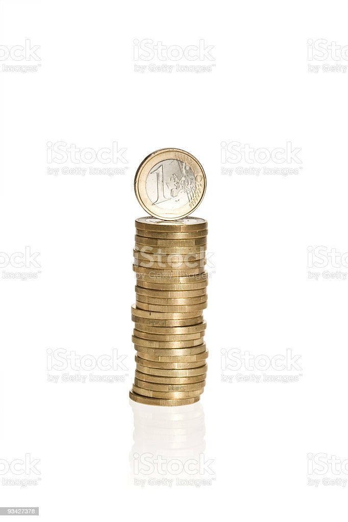 stack of euro coins royalty-free stock photo