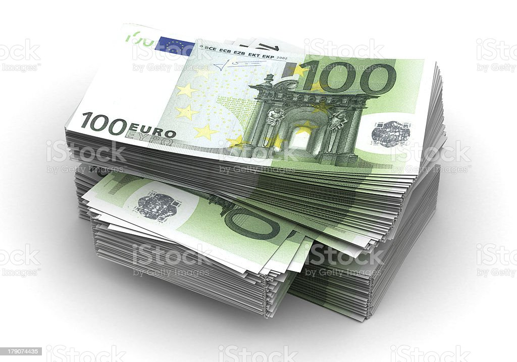 Stack of Euro stock photo