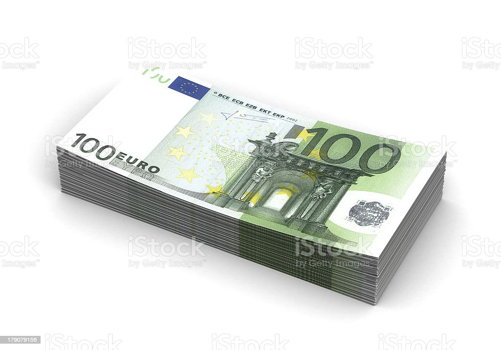 Stack of Euro royalty-free stock photo