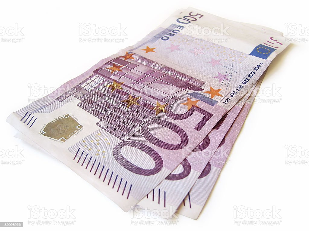stack of european money isolated royalty-free stock photo