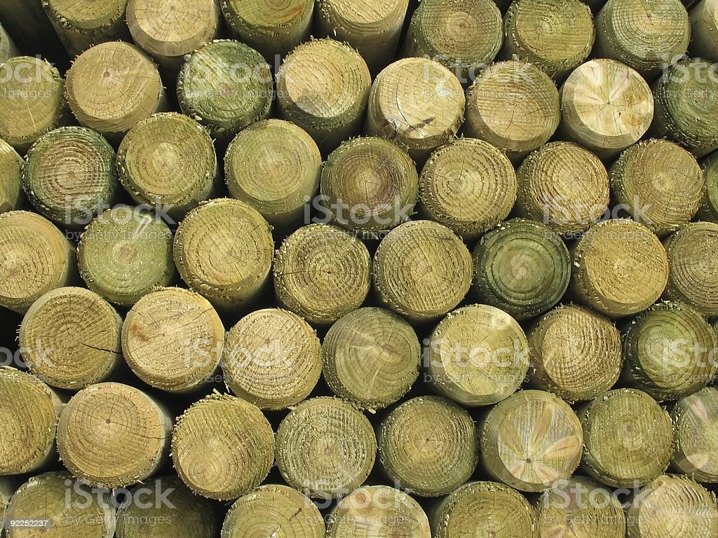 Stack Of Fence Post  Ends royalty-free stock photo