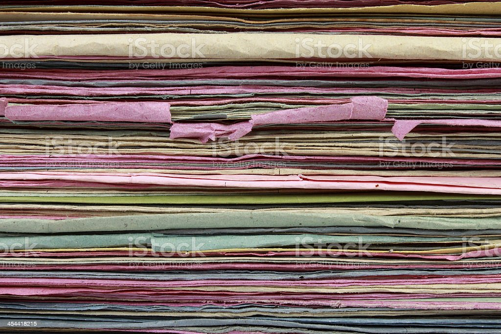 Stack of  file folder close up for background royalty-free stock photo