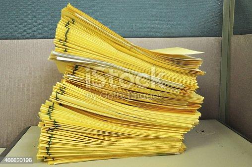 istock Stack Of File Folders 466620196