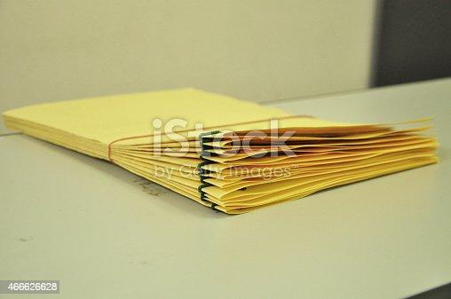 istock Stack Of File Folders 466626628