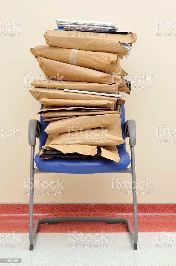Stack of Files royalty-free stock photo