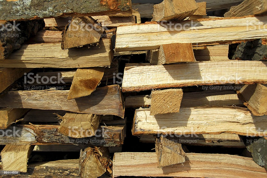 Stack of Fire Wood royalty-free stock photo