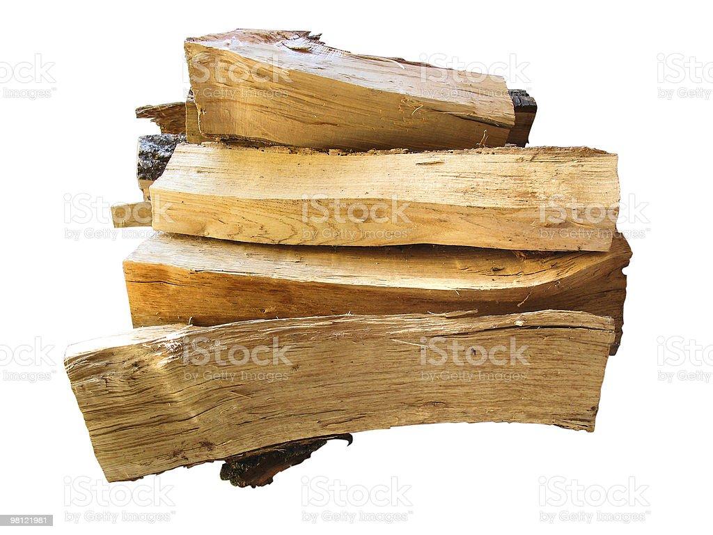 Pila di legna da ardere Registra per la cottura isolato su bianco foto stock royalty-free