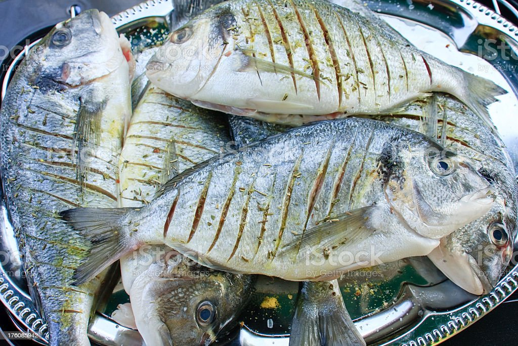 Stack of fish royalty-free stock photo