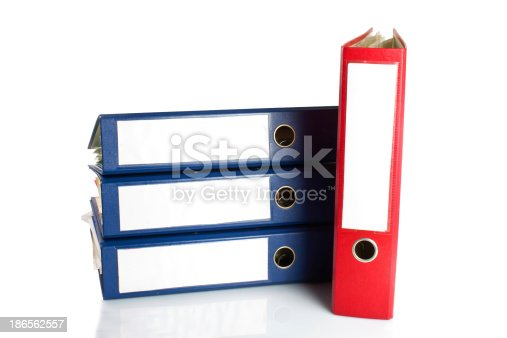 502086873 istock photo Stack of folders. Pile with old documents and bills 186562557